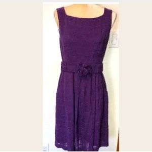 Nanette Lepore size 8 Purple Belted Dress